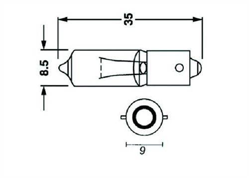 Ampoule 12V23W culot BA9S