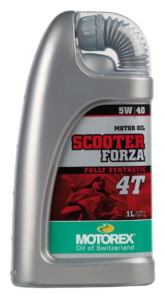 Huile Motorex Scooter Forza 4T 5W40 1 litre 100% Synthetic