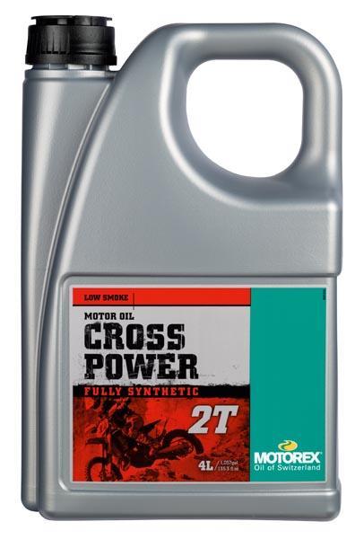 Huile moteur MOTOREX Cross Power 2T 100% synthétique 4L