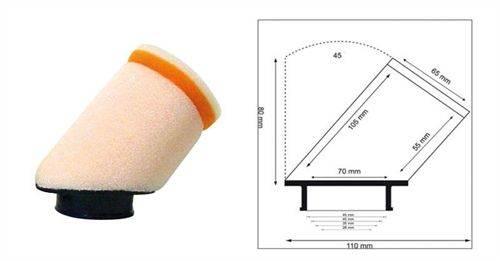 Filtre à air Pitbike cylindrique à 45° Twin Air
