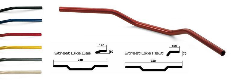 Guidon Streetbike Lsl diamêtre 22mm