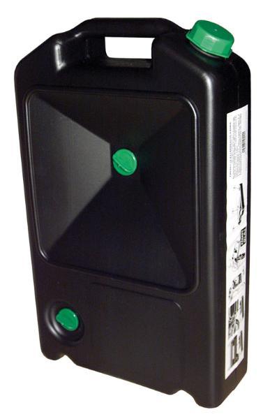 Bac récupérateur marque Pressol noir 7L