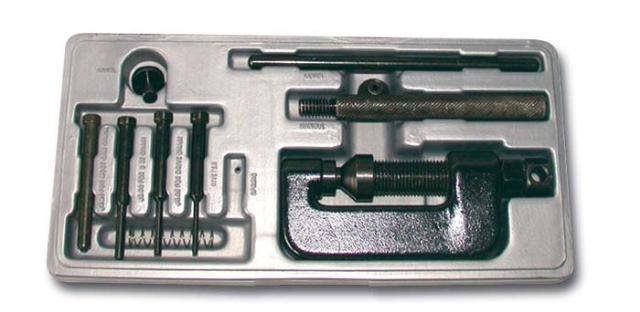 Coffret rive/dérive chaîne de distribution marque Bihr 3 pointeaux dérivetage 2 - 3 - 4mm