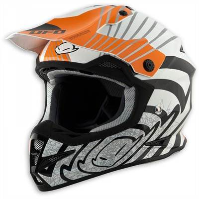 Casque cross Ufo Warrior Shock orange