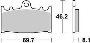 Plaquettes de freins AP Racing ORR