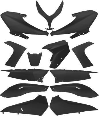 Kit carénage scooter complet ( 13 pieces ) noir mat