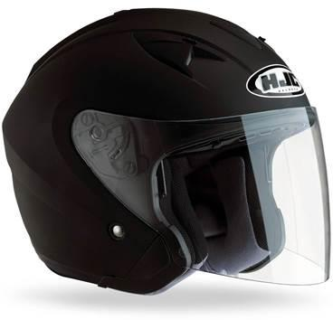 Casque jet HJC IS33 noir Mat S