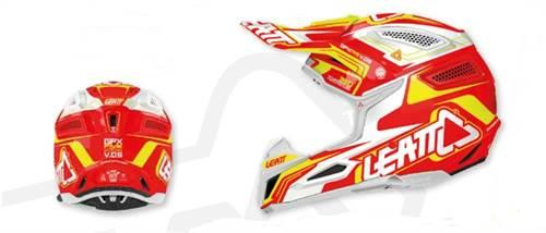 Casque Leatt GPX 5.5 Composite rouge blanc XS