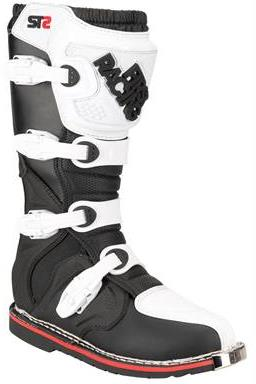 Bottes cross First Racing ST2 blanc noir