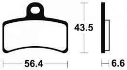 Plaquettes de frein Tecnium de type organique (indice MA)