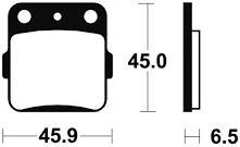 Plaquettes de frein Tecnium métal fritté indice MOR