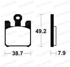 Plaquettes de frein Tecnium métal fritté indice MF et MR