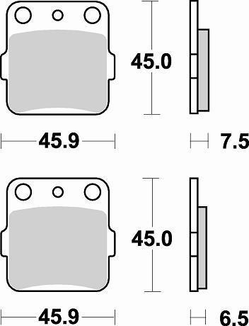 Plaquettes de frein Braking métal fritté indice CM46