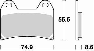 Plaquettes de frein Braking type métal fritté CM55