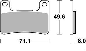 Plaquettes de frein Braking racing CM66
