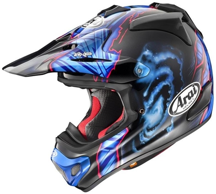 Casque cross Arai MX-V Barcia Bleu