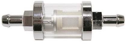 Filtre à essence Brazoline metal chromé durite Ø 8mm