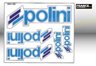 Kit autocollants Polini 5 pièces