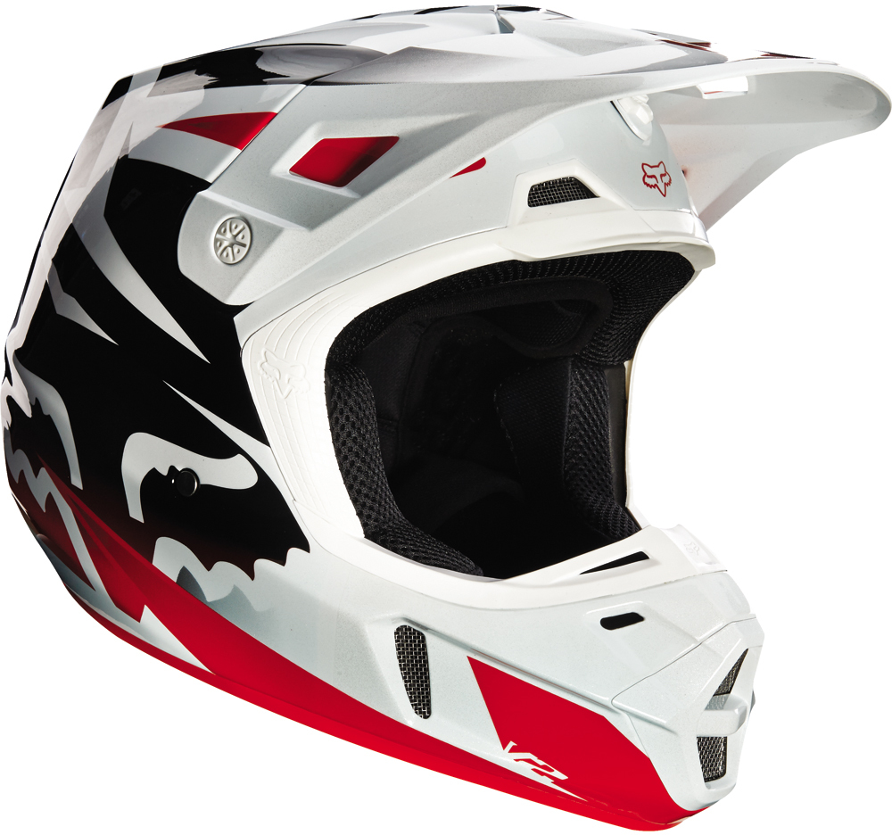 Casque Fox V2 race Rouge Blanc