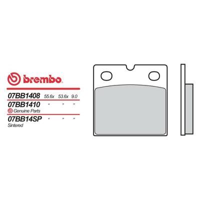 Plaquettes de frein Brembo