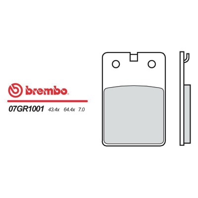 Plaquette de frein Brembo