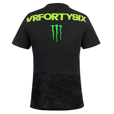 Tee-shirt VR46 Monster DTBC noir
