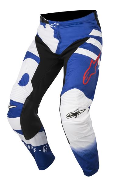 Pantalon cross Alpinestars Racer Braap bleu/blanc/rouge