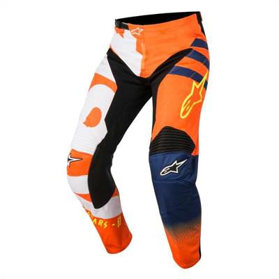 Pantalon cross enfant Alpinestars Racer Braap orange/bleu