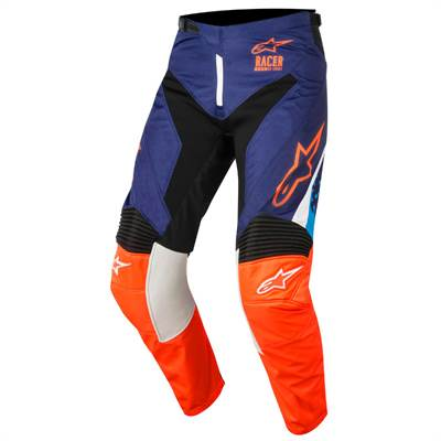 Pantalon cross Alpinestars Racer Supermatic bleu/orange