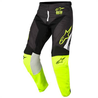 Pantalon cross Alpinestars Racer Supermatic noir/jaune