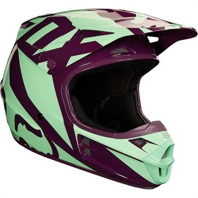 Casque cross Fox V1 Race vert