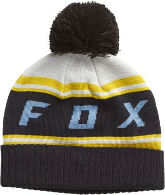 Bonnet Fox black diamond pom