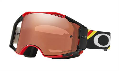 Masque cross Oakley Airbrake Prizm Mx Heritage Rouge