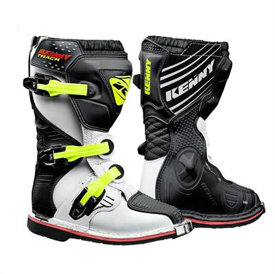 Bottes cross Kenny 2019 Track Junior Blanc/Noir/Jaune