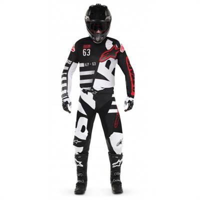 Tenue cross enfant Alpinestars Racer Braap noir/blanc/rouge