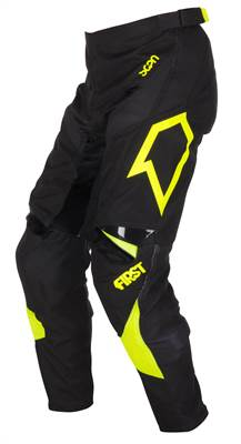 Pantalon cross First Racing Scan noir/jaune