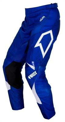 Pantalon cross First Racing Scan bleu/blanc