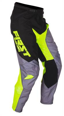 Pantalon cross First Racing Data gris/vert