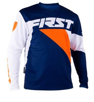 Maillot cross First Racing Data marine/orange