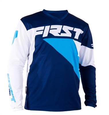 Maillot cross First Racing Data marine/bleu