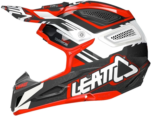 Casque cross Leatt GPX 5.5 Rouge Blanc