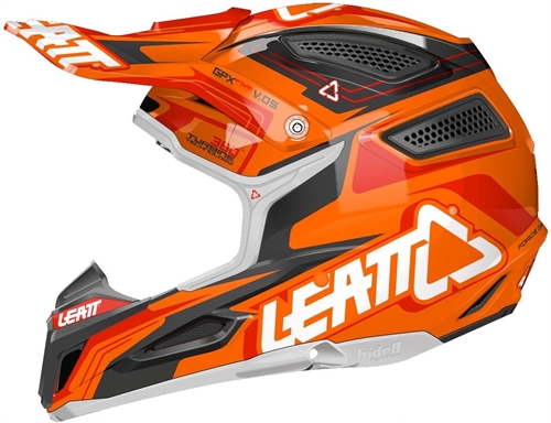 Casque cross Leatt GPX 5.5 Orange Noir