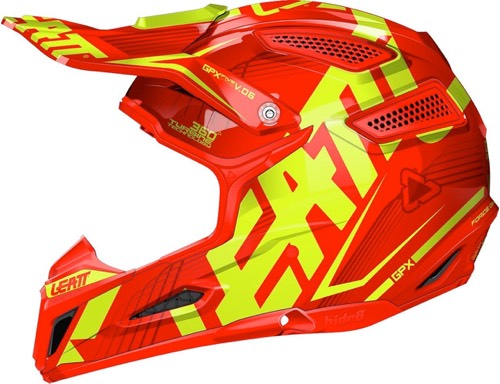 Casque cross Leatt GPX 5.5 enfant Rouge Jaune