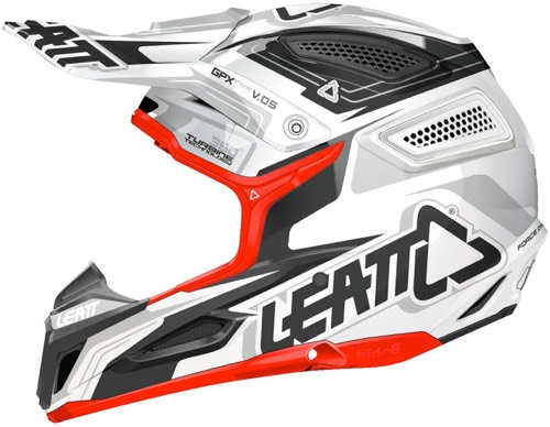 Casque cross Leatt GPX 5.5 Blanc Rouge Noir