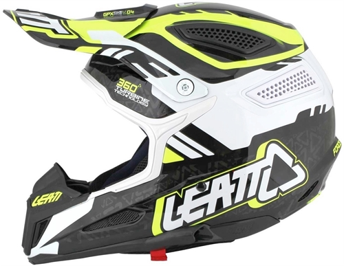 Casque cross Leatt GPX 5.5 Noir Jaune Blanc