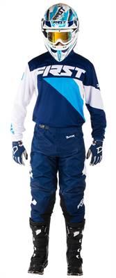 Tenue cross First Racing Data marine/bleu