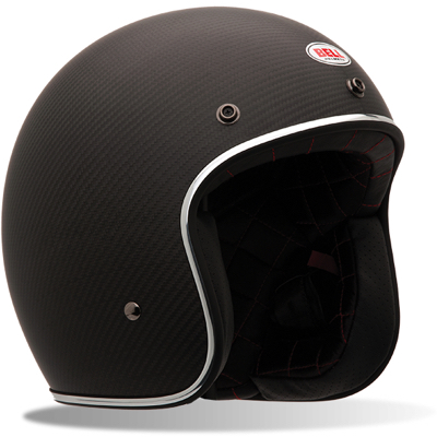 Casque jet Bell Custom 500 Carbon Solid Noir
