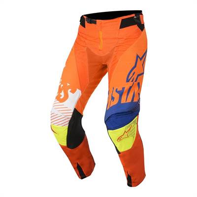 Pantalon cross enfant Alpinestars Racer Screamer orange/bleu/blanc