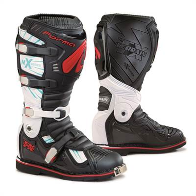 Botte cross Forma Terrain Tx Noir blanc rouge