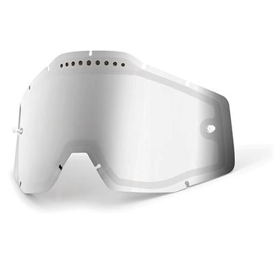 Racecraft Accuri Strata replacement écran 100% verres Dual Ventilé argent miroir